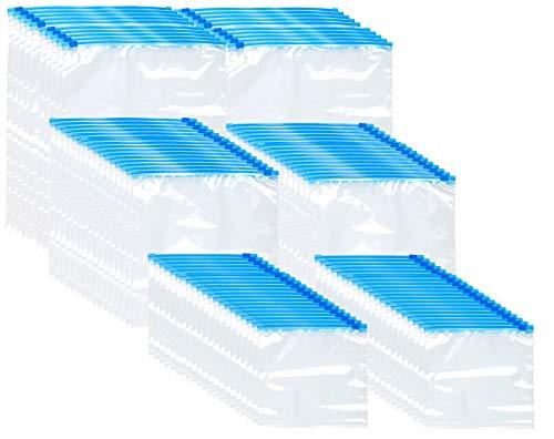 Rosenstein & Söhne Allzweckbeutel: 120 Premium Zip-Verschluss Gefrier-Beutel, 1/3/6 Liter, 68 µm (wiederverschließbare Gefrierbeutel)