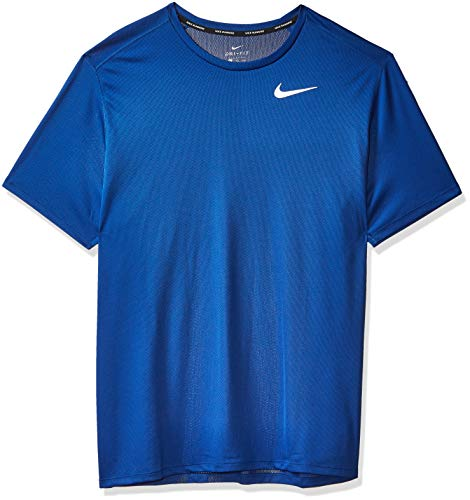 Nike M NK DF BRTHE Run Top SS T-Shirt Homme, lt Photo Blue/Reflective Silv, FR : M (Taille Fabricant : M)