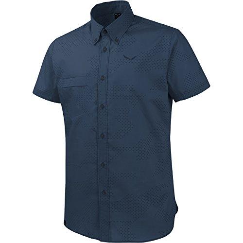 Salewa Puez Camo Dry SRT Chemise à manches courtes, Homme, Homme, Puez Camo Dry SRT, Bleu (camo d.denim / ins.blu)-46/S