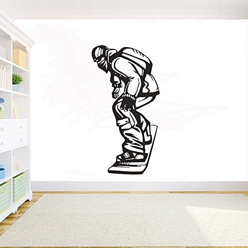 JXMK snowboard muurkunst sticker snowboard gepersonaliseerde muurtattoos afneembare vinyl DIY muursticker Boy Room Home Decor