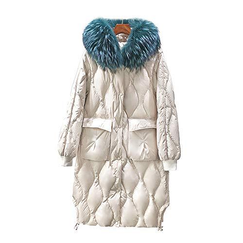 Daunenjacke Damen Leicht, Damen Jacke Damen Lange Warme Mantel Mode Daunenjacke Windjacke Dicke Vier-Lagen-Sperre Kaschmir Leichte Winddichte Winterk