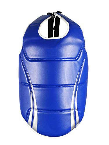 JXS Boxen Brustschutz Child & Adult-Karate Body Protector-4.5cm Dicke Polsterung-Muay Thai, Karate Gym Fitness Workout Body Shield,Blau,110~155cm