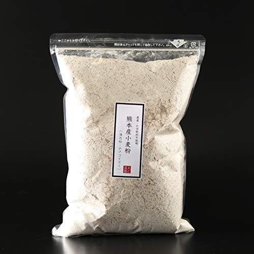 【農薬不使用・化学肥料不使用】「熊本産小麦粉」薄力粉【全粒粉タイプ】1kg