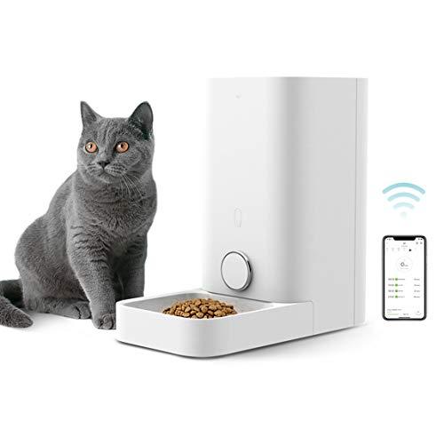 PETKIT Automatischer Haustier-Futterspender für Katzen und Hunde, WLAN-fähig, App für Android, iOS und Kompatibel mit Alexa, geplante Fütterung, Portionskontrolle, Verteileralarme, Mini-Futterstation