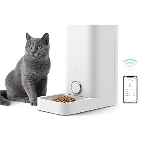 PETKIT Automatic Cat Feeder, Smart Feed Pet Feeder for Small Animals, Wi-Fi Enabled & Work with Alexa, App for Android and iPhone, Auto Pet Food Dispenser with Portion Control, Battery Back-up System