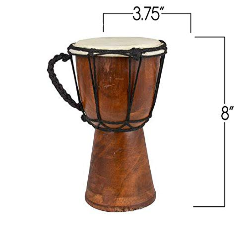 Drums Djembe Drum Djembe jembe is a Rope- goat skin Covered Goblet Drum Played by Hands West Africa style (4x8)