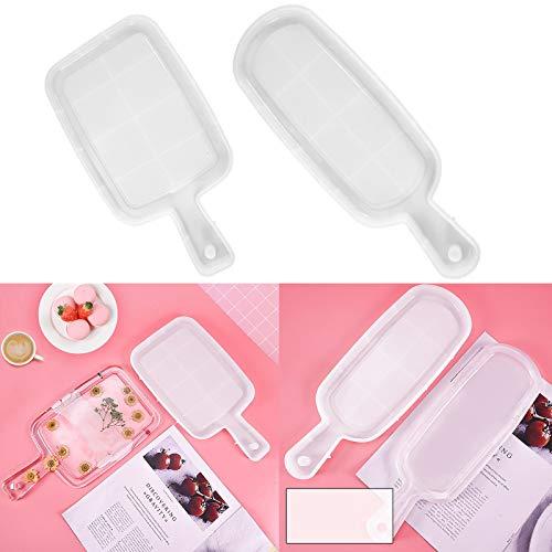 Corlidea Kit de pegamento epoxi de cristal de bricolaje para decoración de brazaletes colgantes de silicona molde 2 piezas para adultos y niños