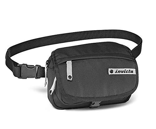 Marsupio Invicta, Waist Bag Bicolor, Nero, Outdoor & tempo libero