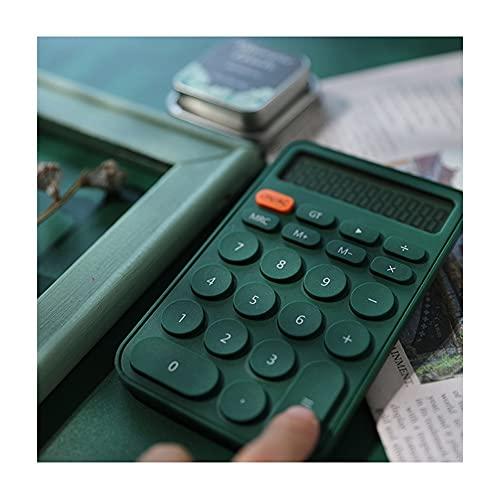 BENO Calcolatrice Calculadora De Escritorio De 12 Dígitos Colores De Caramelo Botones Grandes Calculadora De Escritorio para Escuela Electronics calculadora portatil (Color : Green)