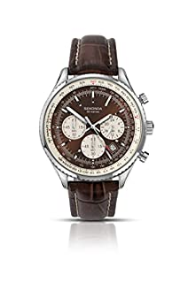 Sekonda Men's Quartz Watch with Brown Dial Chronograph Display and Brown Leather Strap 3407.27 (B0087D2LKE) | Amazon price tracker / tracking, Amazon price history charts, Amazon price watches, Amazon price drop alerts