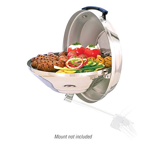 """Magma Products, A10-104 Marine Kettle Charcoal Grill w/Hinged Lid, Original Size, Multi,15"""" Diameter"""