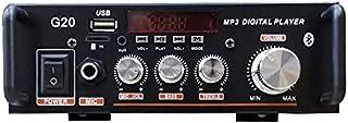 Amplificador de potencia estéreo inalámbrico Bluetooth 5.0 G20, amplificador doméstico digital, sistema de sonido de cine ...