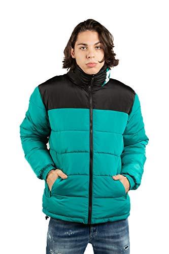 Karl Kani OG Block Reversible Puffer Chaqueta de Invierno Turquoise/Black