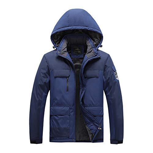 Chaquetas para hombre al aire libre, ropa acolchada de algodón, resistente al viento, impermeable y cálida ropa de montañismo 9XL - azul - 4X-Large