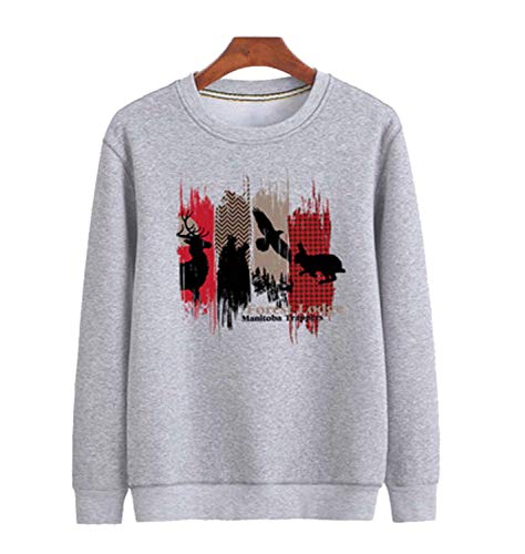 GL SUIT Unisex Crew Neck Sweatshirt Klassiek Printen Pullover Vrouwen Casual Trainingspakken Losse Lange Mouw Jumper Sweater