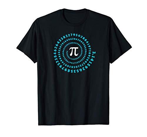 Pi, symbole, spirale, mathématiques, infini, nombre, pi day T-Shirt