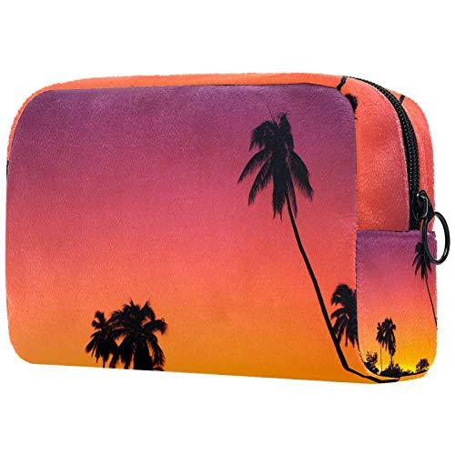 Bolsa de aseo con diseño de girasoles para maquillaje, bolsa de transporte para gimnasio, neceser organizador de cosméticos, kit de viaje para hombres y mujeres Multi10 18.5x7.5x13cm/7.3x3x5.1in