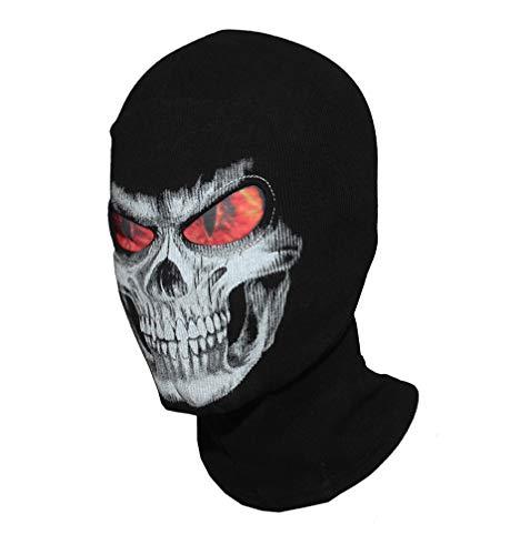 3D Schädel Grim Balaclava Motorrad Voller Gesicht Maske Hüte Helm Airsoft Paintball Snowboard Ski Schild Halloween Ghost Death Biker