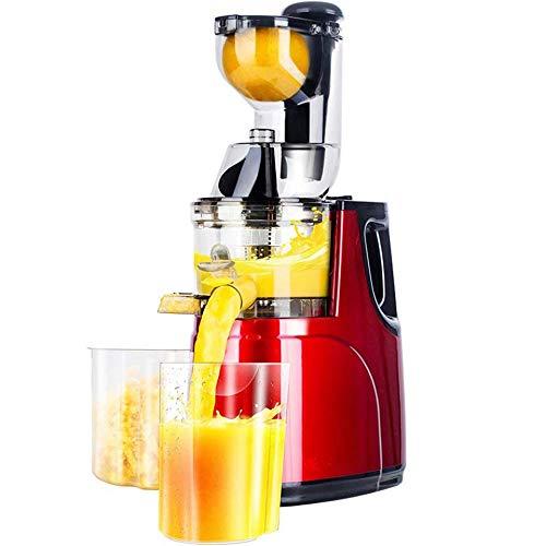 HEAOJ Entsafter Niedrige Geschwindigkeit Großer, Weiter Mund Fütterungsrutsche Ganzer Apfel Orange Langsam Entsafter Fruchtgemüse Ernährung Saftpresse Auspresser 220V