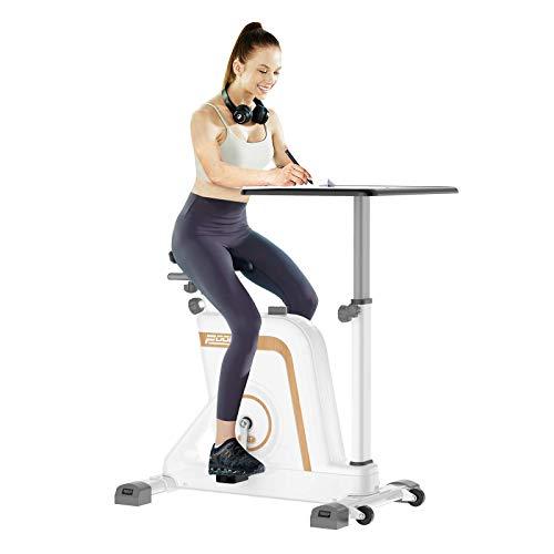 Pooboo Exercise Bike Desk Cycle Standing Desk Bike, 8...