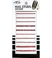 ネイル スタッズ シール Studs Sticker (レッド)