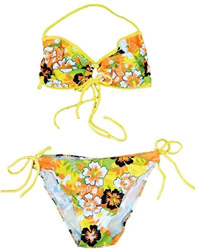 VanessasShop Mooi Meisjes Neckholder Bikini met bloemenmotief in de maten 152 158 164 170