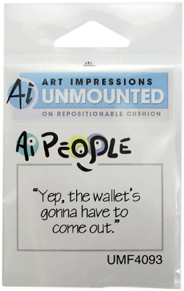 Art Impressions Wallets Out Rubber Stamp