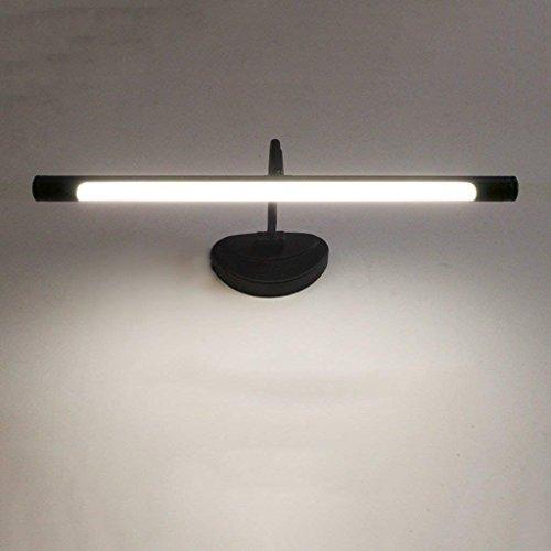 DSJ spiegel-licht retro tuinspiegel lamp, geleid spiegellicht, geleid Europees soort cabinet licht badkamer badkamerspiegel licht, de tafellamp kleed, geel-48 cm 6W