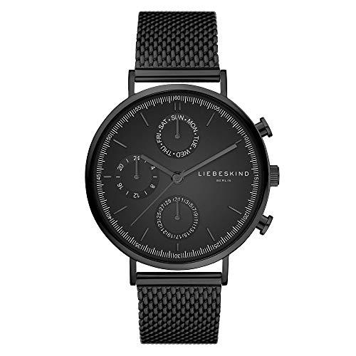 Liebeskind Berlin Damen Multi Zifferblatt Quarz Uhr mit Edelstahl Armband LT-0194-MM