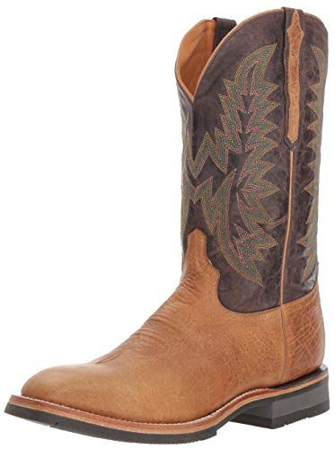 Lucchese Bootmaker Men's Rudy Western Boot, Tan/Chocolate, 9.5 D US