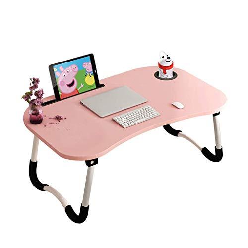 O&YQ Gateleg Tisch/Klapptisch Klapptisch Laptoptisch Bett Faltbar Lazy Student Dormitory Desk Startseite Schlafzimmer Einfach Cup Tray Slot