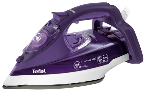 Tefal FV 9640 - Plancha de vapor-seco, 2600 W, suela de cerámica, 0.32 L, 200 g/min, púrpura