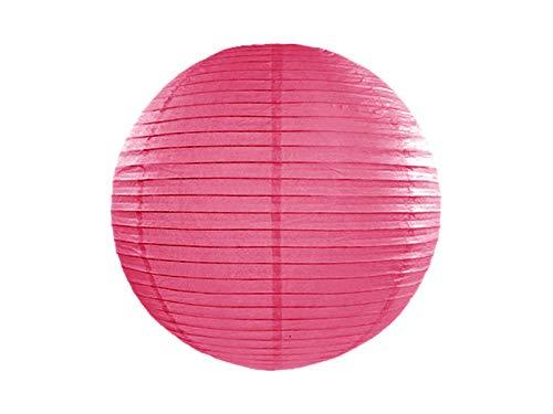 Lanterne en papier à pompon chinoise/japonaise à suspendre pour mariage, fête d'anniversaire, décoration de la maison, 20 cm (rose vif)