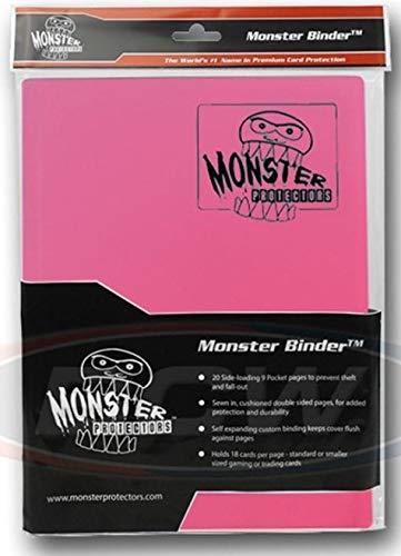 Monster Binder - 9 Pocket Trading Card Album - Matte Light Pink - Holds 360 Yugioh, Magic, and Pokemon Cards image