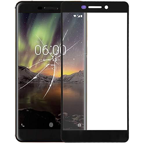 Vetro Frontale del Telefono Mobile Schermo Anteriore Esterno l'obiettivo di Vetro for Nokia 2018 6/6,1 SCTA-1043 TA-1045 TA-1050 TA-1054 TA-1068 (Nero) (Color : Black)