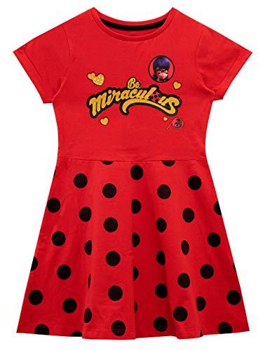 Miraculous Vestito per Ragazze Ladybug Rosso 4-5 Anni
