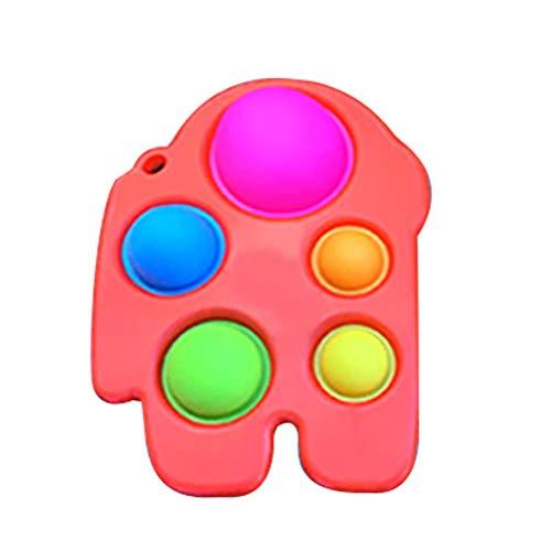 YAQIAN Juguete de silicona simple para inquieto, juguete de mano sensorial para aliviar el estrés, juguete educativo temprano, juguete para el desarrollo cerebral para niños y adultos