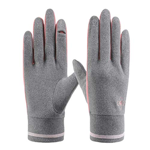WDFVGEE Damen Winter Warme Touchscreen Handschuhe mit Fingerspitze Flip Cover...