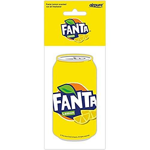 airpure FANTA Lemon CAN ambientador de coche por Airpure, refresca el aire interior del vehículo, ambientadores para hombres y mujeres, aroma fresco, CC-PC-FL-327