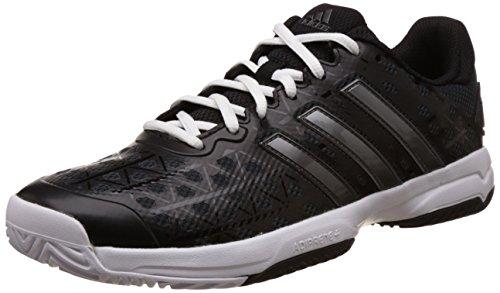 adidas Barricade Club XJ, Zapatillas de Tenis para Niños, Negro (Negbas/Nocmét/Ftwbla), 32 EU