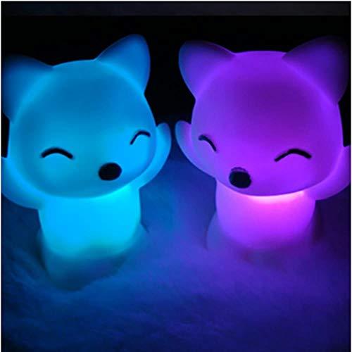 LMK Night Light Maison Bureau Chambre Chambre Jolie Fox Forme LED Lampe De Nuit Décorative Veilleuse, D