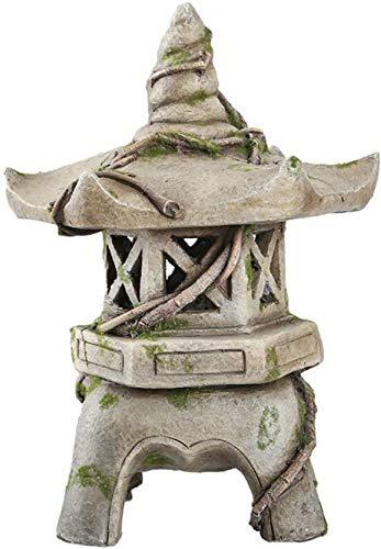 Asian Japanese Lantern Solar Pagoda Garden Statue Decor Garden Ornament For home, outdoor decoration