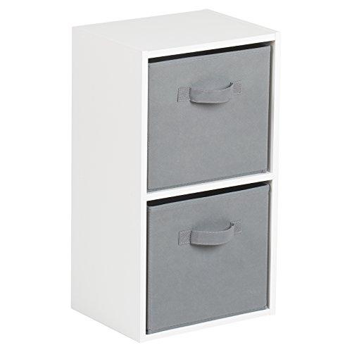 Hartleys Unité Cube Blanc a 2 Niveaux – Gris