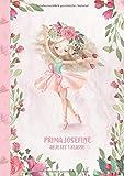Prima Josefine - ab jetzt 1.Klasse: Ballerina Ballet Schreiblernheft und Malbuch A4 110 Seiten, Geschenk für Mädchen zur Einschulung und zum Buchstaben schreiben lernen