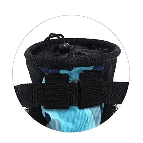 EMFGJ Bolsa de regalo para perro, bolsa de entrenamiento de tela Oxford, resistente al agua, con dispensador de bolsa de caca ajustable, camuflaje verde