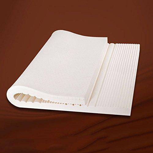 LXZCVZV Materasso in Lattice Naturale 120cm-180materasso Cm Spessore5cm Strisce Ondulate