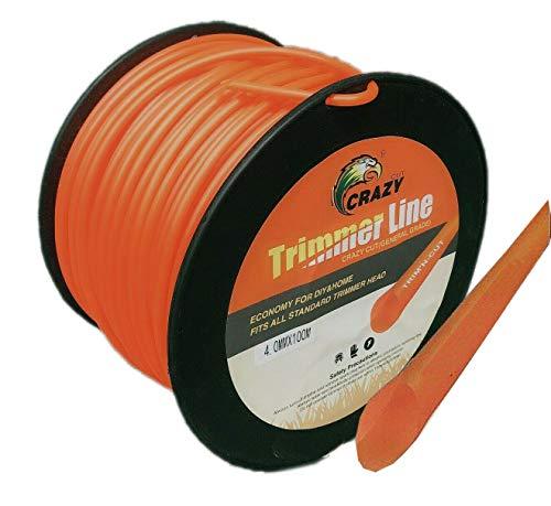 Topolenashop - Hilo para desbrozadora corta hierba redonda 4 mm bobina de 100 metros