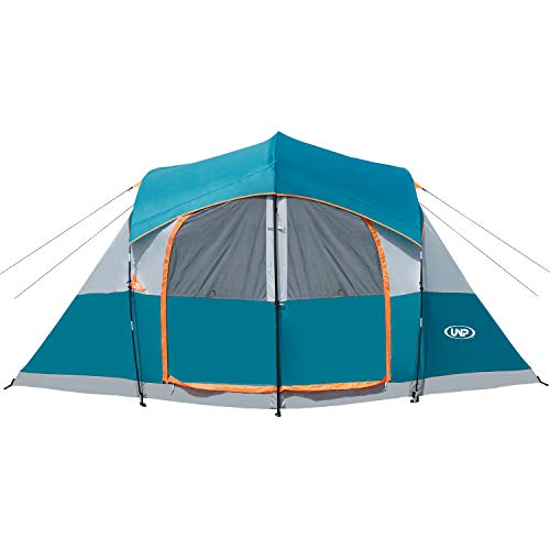UNP Tents for Camping (14' x 14' x78in)- 8 Person Tent Waterproof Windproof Easy Setup (5min),...