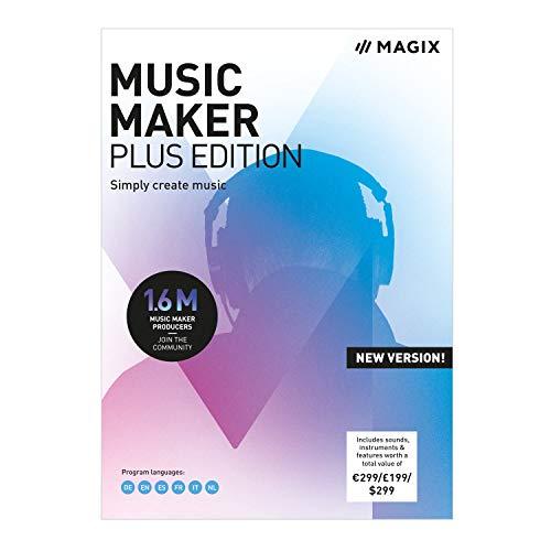 MAGIX Music Maker - 2019 Plus Edition - Beats produzieren, aufnehmen und mixen | Standard | PC | PC Aktivierungscode per Email