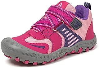 Mishansha Children Girls Non Slip Hikes Sneakers Kids Hiking Athletic Shoes for Running Trail Trekking Walking 2 US Rose Pink